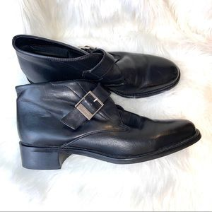 Etienne Aigner Dorian Leather Slip On Booties 9